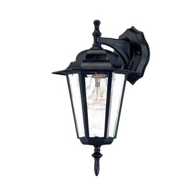 Acclaim Lighting Camelot Collection Wall-Mount 1-Light Outdoor Matte Black Fixture