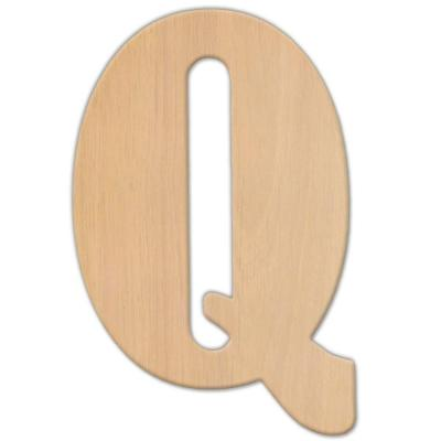 Jeff McWilliams Designs 23 in. Oversized Unfinished Wood Letter (Q)