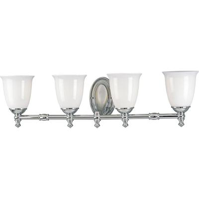 Progress Lighting Victorian Collection Chrome 4-light Vanity Fixture P3041-15