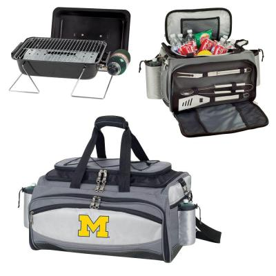 Michigan Wolverines - Vulcan Portable Propane Grill and Cooler Tote by