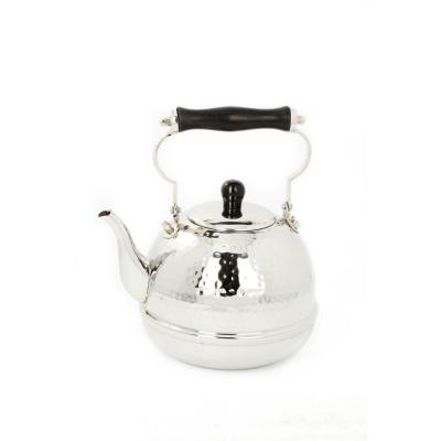 Old Dutch 2 qt. Stainless Steel Hammered Teakettle with Wood Handle