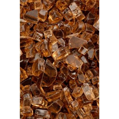 FireCrystals 50 lbs. Copper Reflective Fire Glass Value Pak