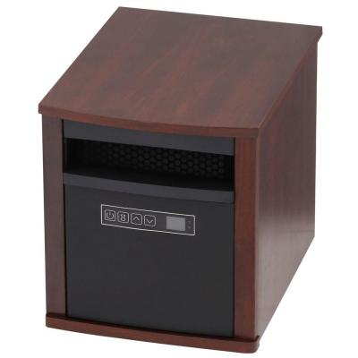 Twin Star 1500-Watt 6-Element Infrared Quartz Electric Portable Heater with Remote Control - Cherry