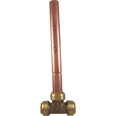 3/4 in. Brass Push-to-Connect Residential Water Hammer Arrestor Tee