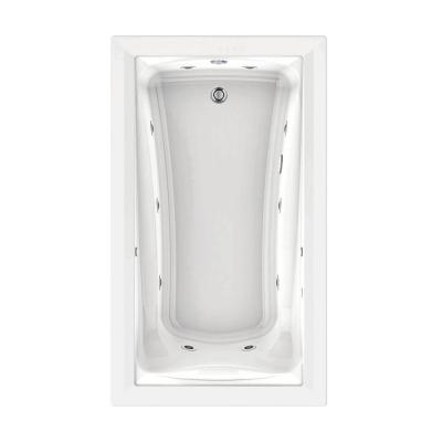 Green Tea 6 ft. x 42 in. Reversible Drain EcoSilent EverClean Whirlpool Tub with Chromatherapy in White Product Photo