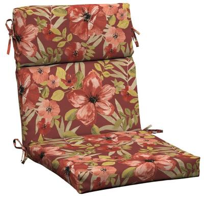 Chili Tropical Blossom Outdoor Dining Chair Cushion