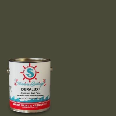 Duralux marine paint 1 gal aluminum boat green marine enamel m736 1 the home depot for Painting aluminum boat interior