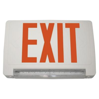 Filament Design Nexis 1 Light Die Cast Aluminum Single Face Light Bar Red Emergency Exit/Combo