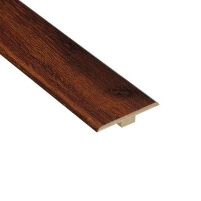 Hampton Bay High Gloss Hawaiian Koa Cherry 6.35 mm Thick x 1-7/16 in. Wide x 94 in. Length Laminate T-Molding-DISCONTINUED
