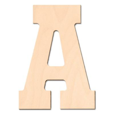 Design craft millworks 8 in baltic birch block wood for Home depot wooden letters