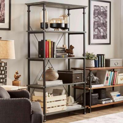 Grove Place 4-Shelf Bookcase in Weathered Grey