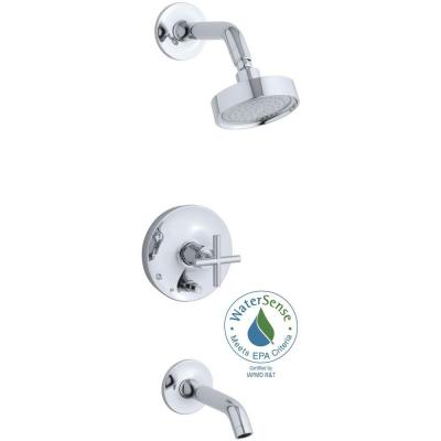 Purist 1-Handle Tub and Shower Faucet Trim Kit in Polished Chrome