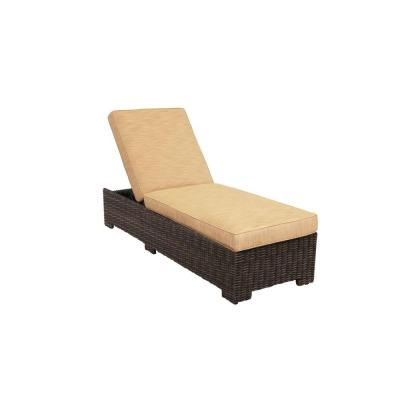 Northshore Patio Chaise Lounge with Toffee Cushions -- CUSTOM