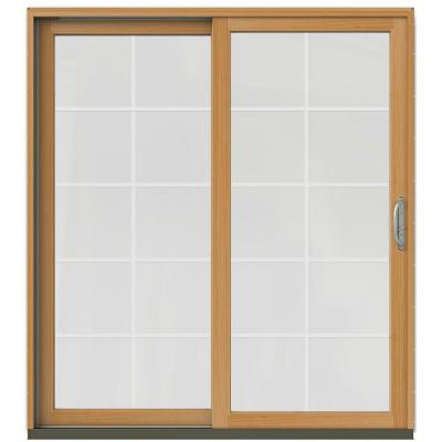 71-1/4 in. x 79-1/2 in. W-2500 Brilliant White Prehung Left-Hand Clad-Wood