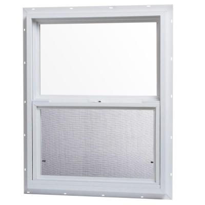 Tafco windows 24 in x 30 in single hung vinyl window for 20 40 window