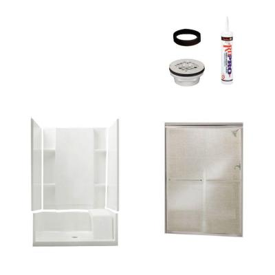 null Accord 36 in. x 48 in. x 74-1/2 in. Shower Kit with Shower Door in White/Chrome-DISCONTINUED