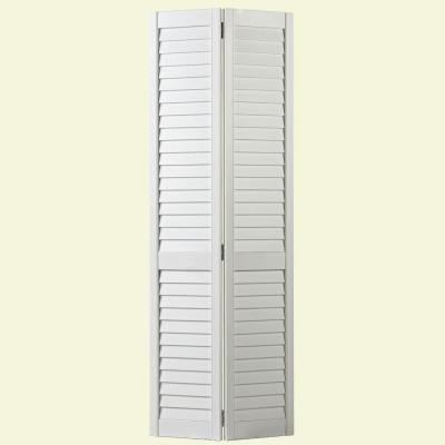 Masonite 36 in x 80 in plantation full louver painted for 18 inch bifold closet door