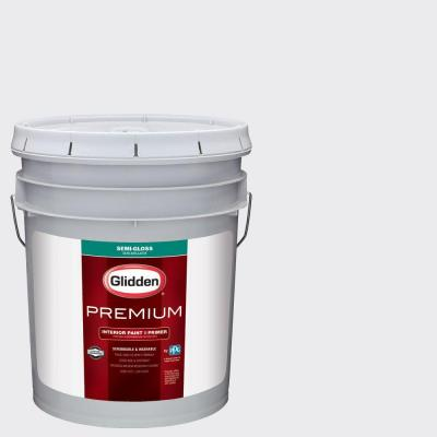 5 gal. #HDGV30U Majestic Mountain White Semi-Gloss Interior Paint with Primer