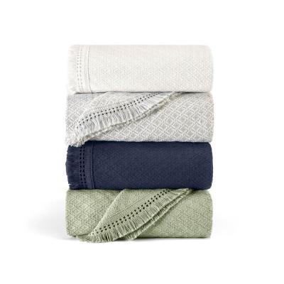 Woven Jacquard Cotton Blend Bedspread Set