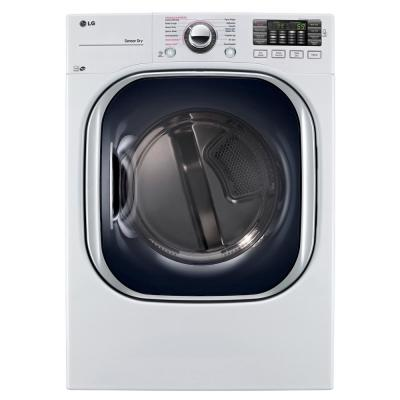 LG Electronics 7.4 cu. ft. Electric Dryer with True Steam in White