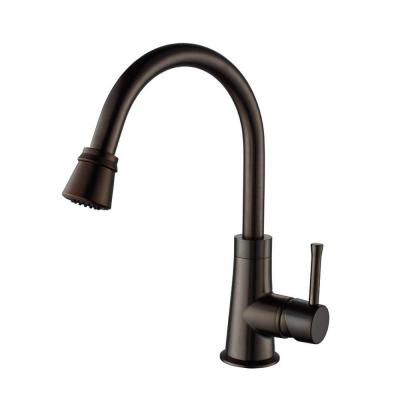 KRAUS Single-Handle Pull-Out Sprayer Kitchen Faucet in Oil Rubbed Bronze