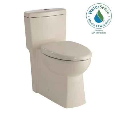 1-piece 1.28 GPF Dual Flush Elongated Toilet in Biscuit