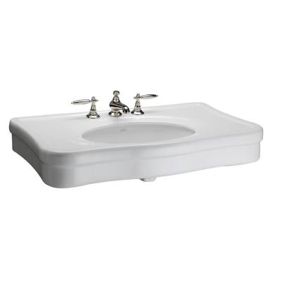 Barclay Products Versailles 36 in. Console Sink Basin in White