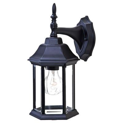 acclaim lighting craftsman 2 collection 1 light matte black outdoor