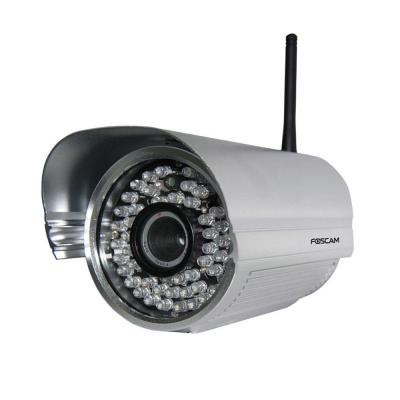 Foscam Wireless 480p Outdoor CMOS IP Bullet Shaped Camera - Silver