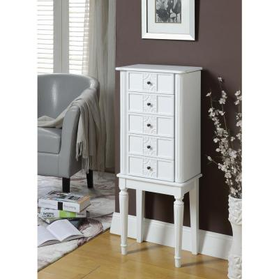 Acme Furniture Tammy White Jewelry Armoire Image
