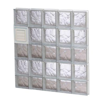 28.75 in. x 36.75 in. x 3.125 in. Wave Pattern Glass Block Window with Dryer Vent Product Photo