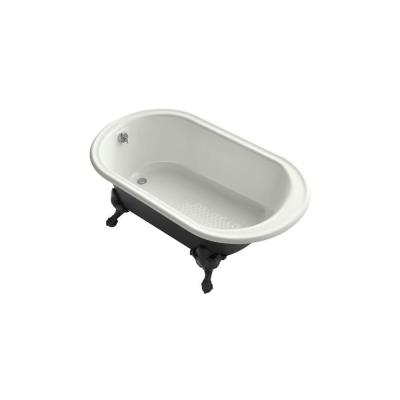KOHLER Iron Works 5.5 ft. Cast Iron Claw Foot Oval Tub in Dune