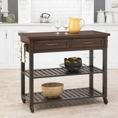 Cabin Creek Wood Kitchen Utility Table