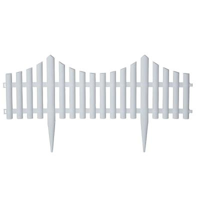 24 in. Resin Picket Garden Fence (18-Pack) Product Photo