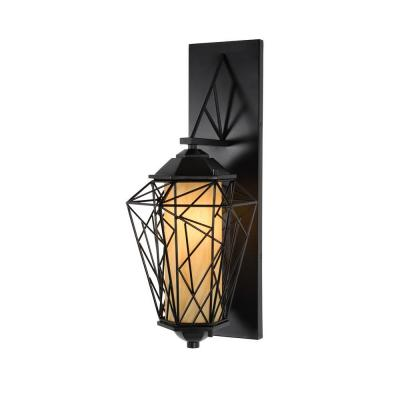 Varaluz Wright Stuff 1-Light Outdoor Black Small Wall Sconce