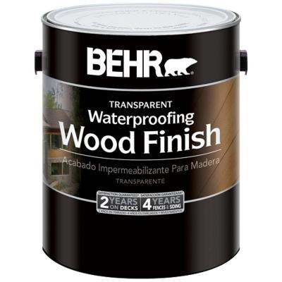 BEHR 1-gal. Redwood Transparent Wood Finish Waterproofing