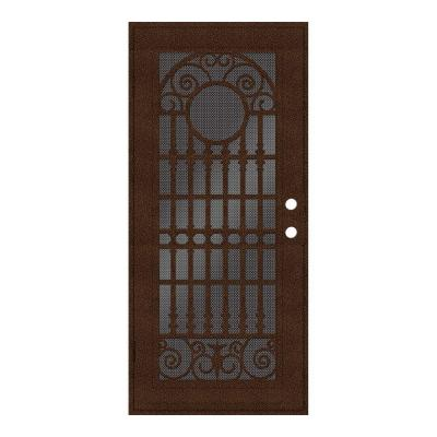 36 in. x 80 in. Spaniard Copperclad Left-Hand Surface Mount Aluminum