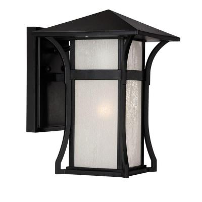 Acclaim Lighting Tahiti Collection 1-Light Outdoor Matte Black Wall Mount Lantern