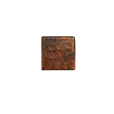 2 in. x 2 in. Hammered Copper Decorative Wall Tile in