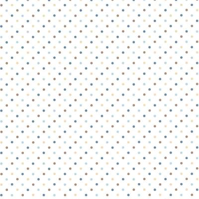 8 in. x 10 in. Lilli Brown Happy Dots Wallpaper Sample