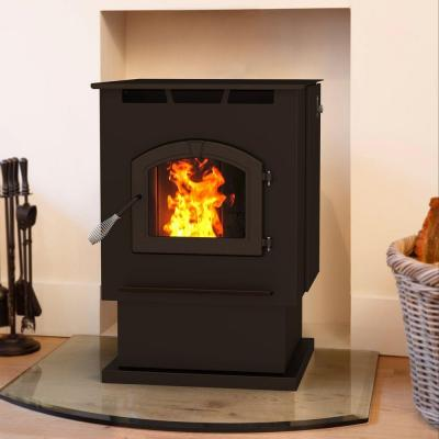 Pleasant Hearth 2,200 sq. ft. Pellet Stove with 80 lb. Hopper and Auto Ignition