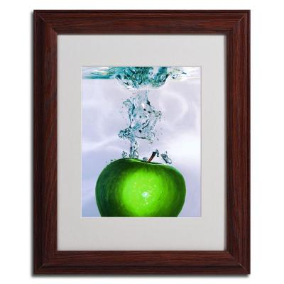 16 in. x 20 in. Apple Splash II Dark Wooden Framed
