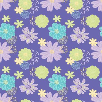 The Wallpaper Company 56 sq. ft. Brightly Colored Floral Fantasy Wallpaper