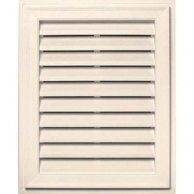 20 in. x 30 in. Brickmould Gable Vent in Sandstone Beige