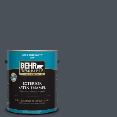 1 gal. #T15-2 Seared Gray Satin Enamel Exterior Paint
