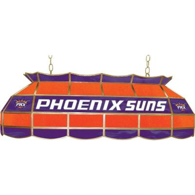 null NBA Phoenix Suns NBA 3-Light Stained Glass Hanging Tiffany Lamp