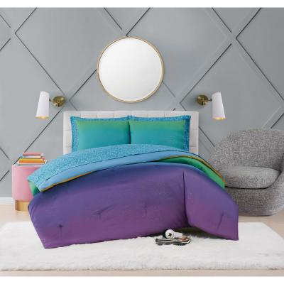 Mermaid Ombre Multicolor Microfiber Bed Ensemble