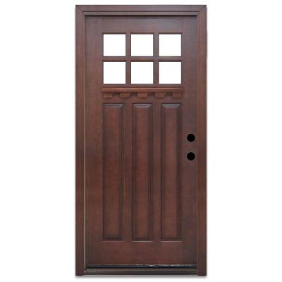Steves sons craftsman 6 lite prefinished mahogany wood Home depot interior doors wood
