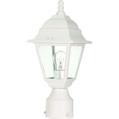 Glomar 1-Light White Outdoor Incandescent Post Light