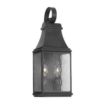 Titan Lighting Jefferson 2-Light Wall Mount Outdoor Charcoal Sconce
